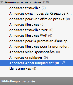 Appel uniquement AdWords EDITOR 11.1 Clickoo Agence AdWords Paris