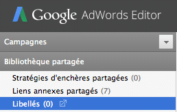 Libellés AdWords EDITOR 11.1 Clickoo Agence AdWords Paris