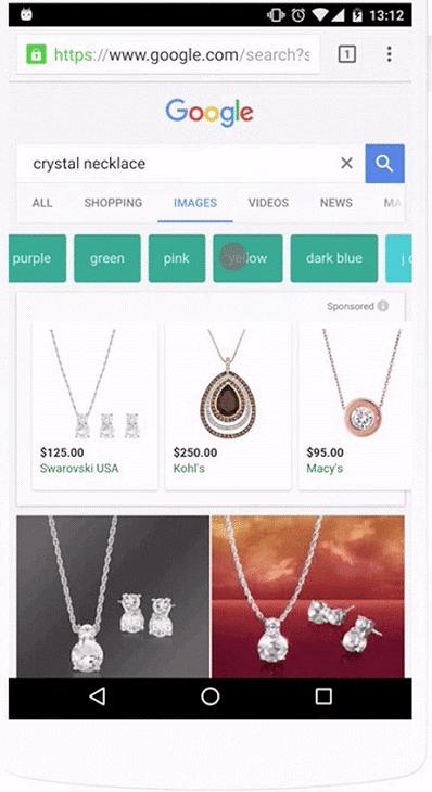 publicité google image mobile