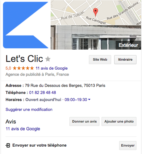 apparaitre sur Google My Business