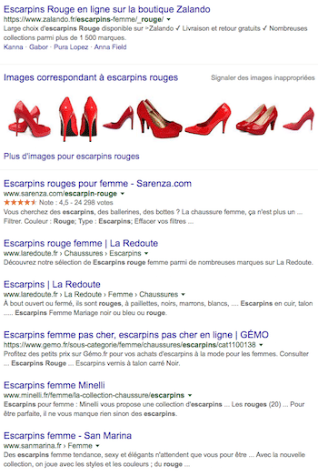 SEO optimisé escarpins
