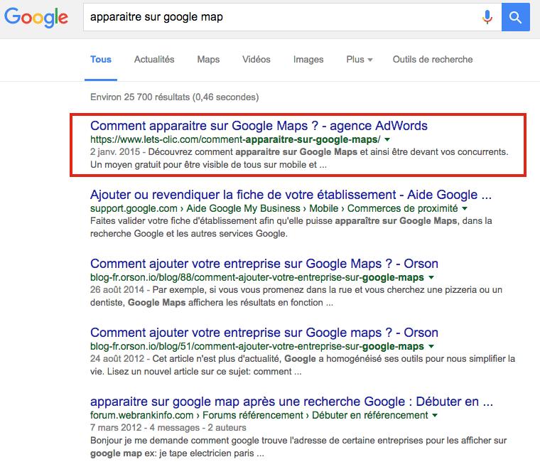 Apparaitre sur Google pour augmenter sa visibilité web