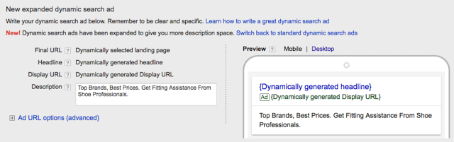 DSA adwords