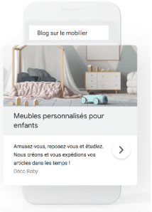 Annonce RDA Google Ads - E commercant