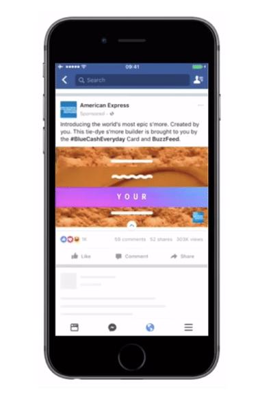 publicité immersive de Facebook Ads